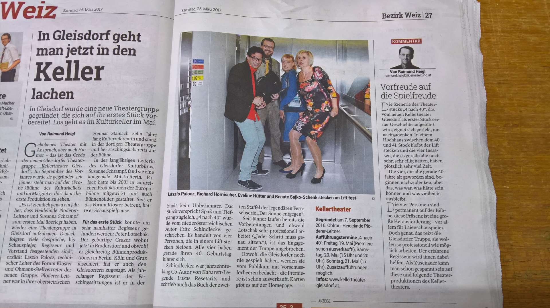 Zeitungsbericht Kleine Zeitung 25.03.2017