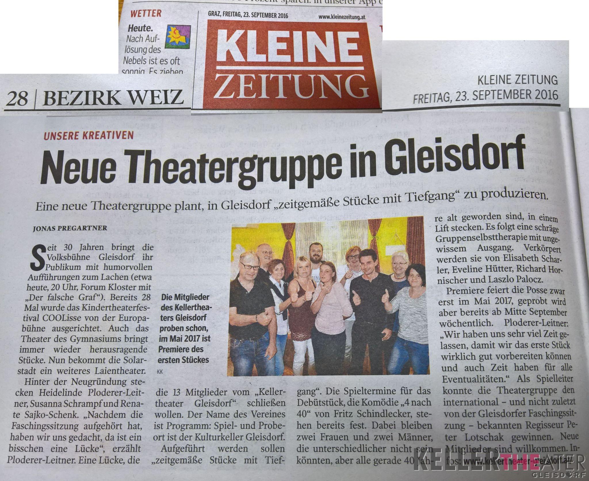 Zeitungsbericht Kleine Zeitung
